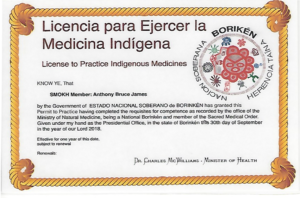 Borekin Tribal Medical License Dr. James